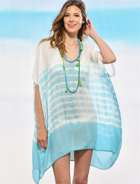 Tie Dye Poncho Cover Up