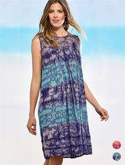Lace Top Tie Dye Dress