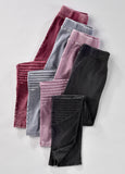 Moto Leggings - LAST CALL - Small Burgundy