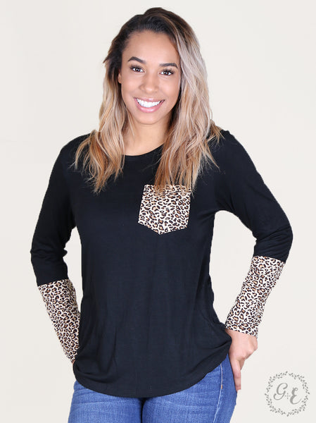 Leopard Accents Top