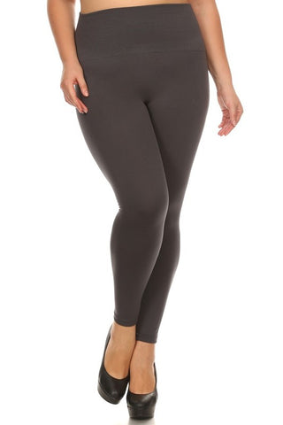 Plus HighWaist Fleece Leggings