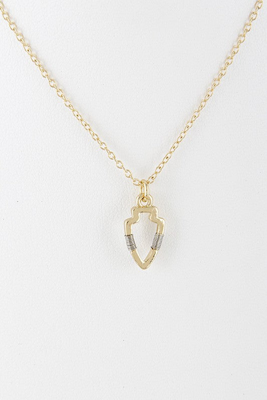 Petite arrowhead necklace