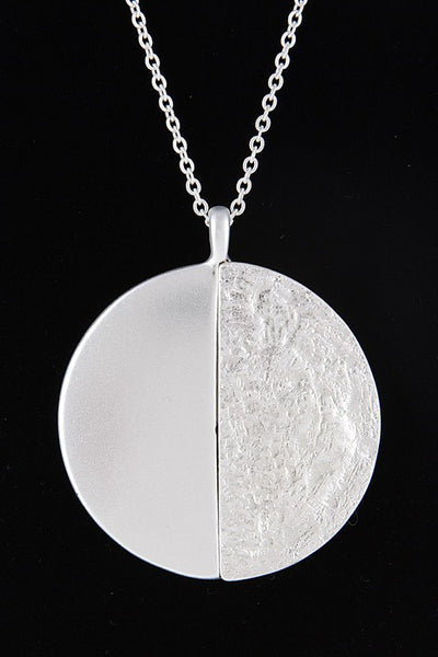 Hammered & Polished Circle Necklace
