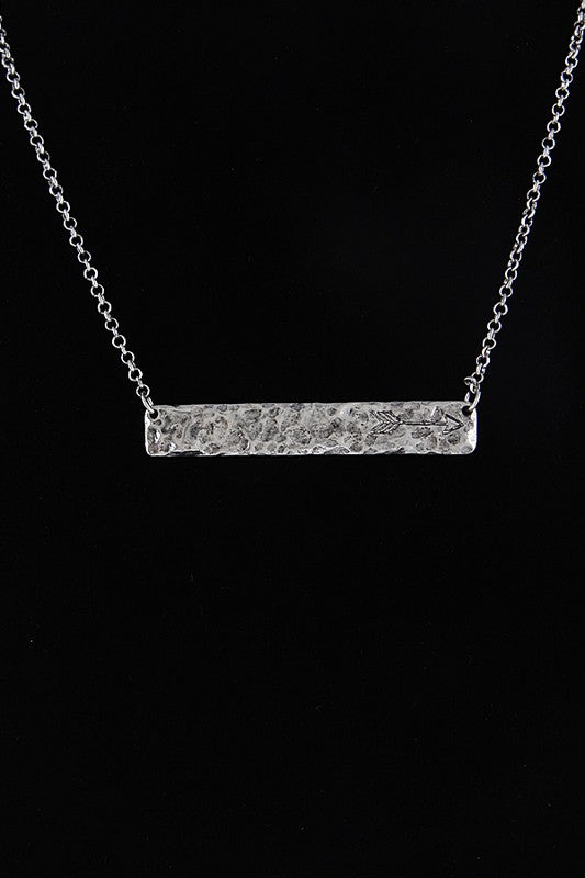 Arrow Bar Necklace