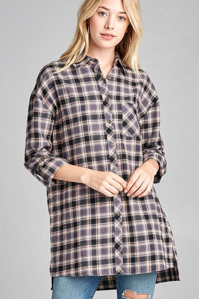 Fall Plaid Flannel Shirt