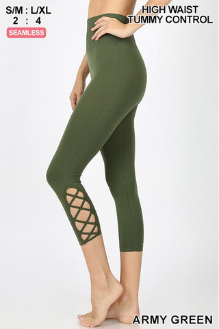 Strappy Capri Leggings