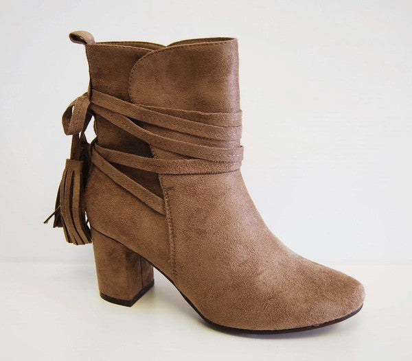 City - Wrap Suede Bootie