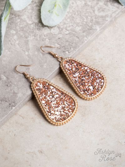 Glam Rose Gold Earrings