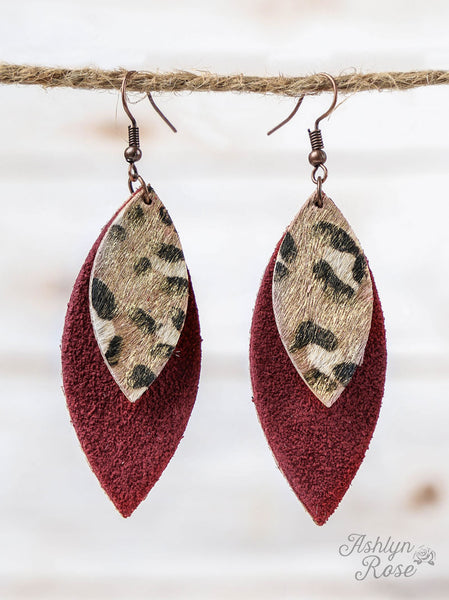 Leather & Leopard Earrings