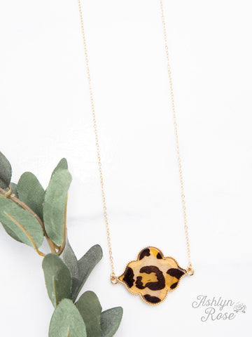 Out on the Town Leopard Necklace