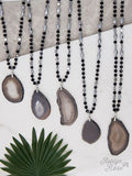 Journey to the Center Beaded Stone Necklace