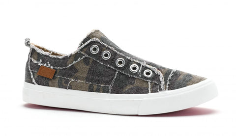 Camo 'Babalu' Slip on Sneakers