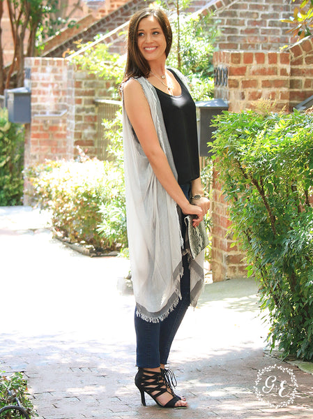 Sheer Fringed Vest