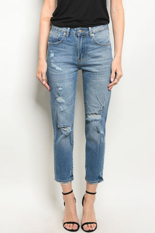 Cropped Boyfriend Jeans - LAST CALL - Sizes 1,3,5
