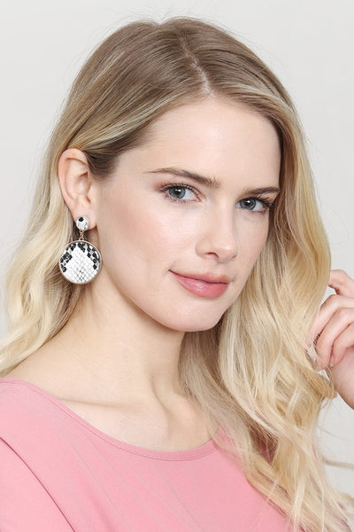 White Snake Earrings