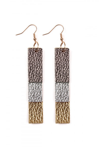 Leather Strip Earrings