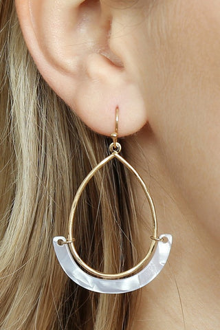 Marble Tip Drop Earrings