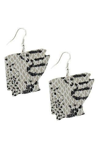 Snake Skin Arkansas Earrings