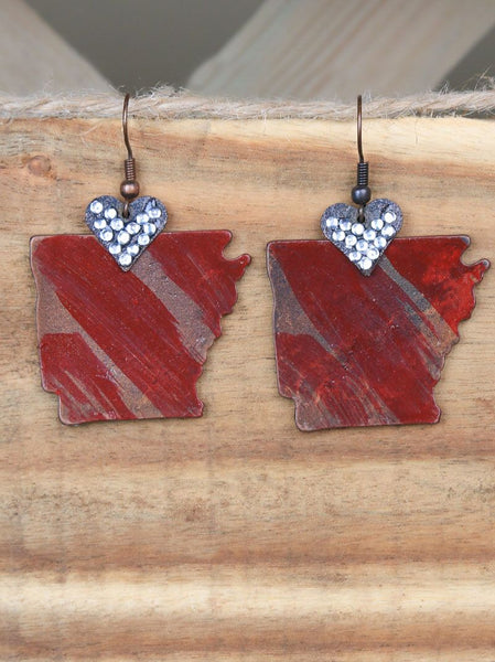 Heart of Arkansas Earrings