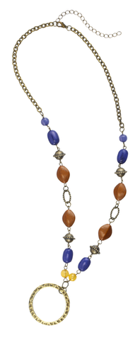 Glass & Stone Beaded Necklace
