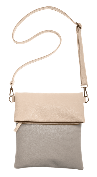 2 Tone Flap Cross Body Bag