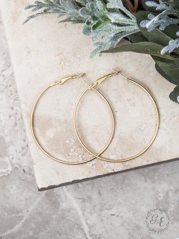 Medium Thin Hoop Earrings