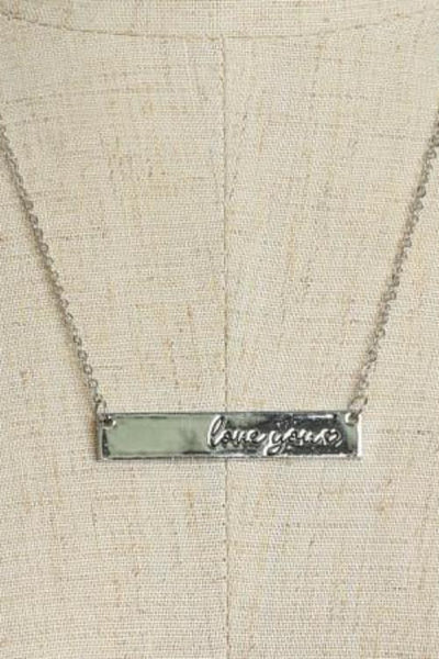 Love You <3 Bar Necklace