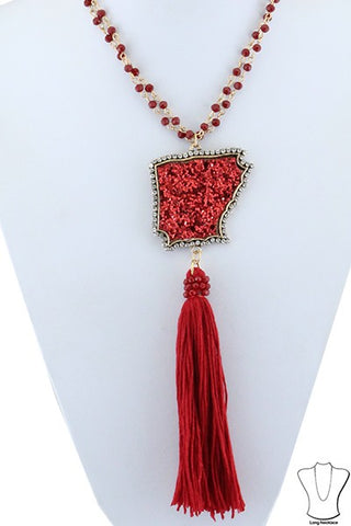 Glitter Arkansas Necklace