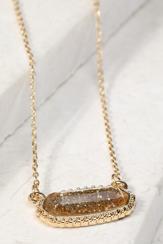 Resin Oval Necklace