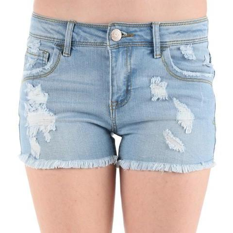Light Distressed Shorts