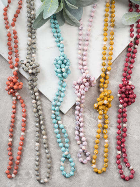 The Essential Stone & Bead Necklace