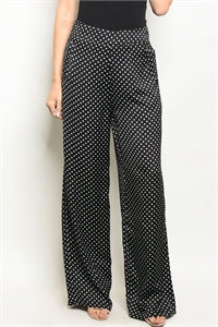 Polka Dot High Waist Trousers