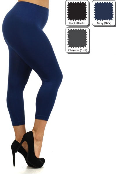 Plus Basic Capri Leggings