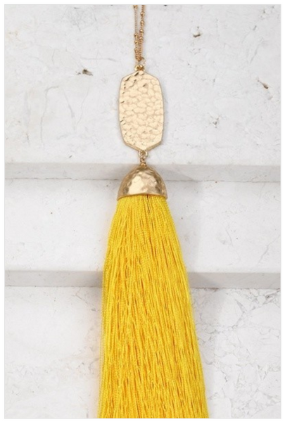 Golden Silk Tassel Necklace