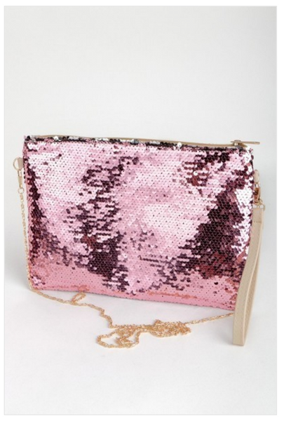 Magic Sequin Convertible Wristlet Clutch Purse