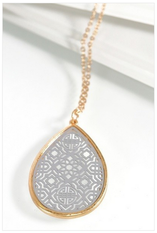 Moroccan Teardrop Necklace