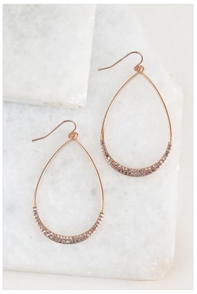 Sparkling Teardrop Earrings