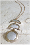 2 Tone Moon Necklace
