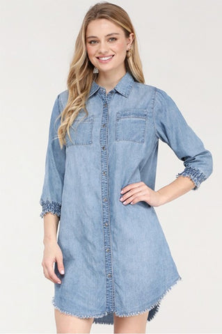 Down for Denim Tunic Dress
