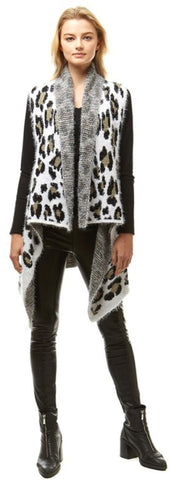 Cheetah Sweater Vest - LAST CALL