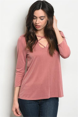 LAST CALL - Strappy Top - Mauve fits S/M