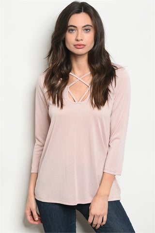 Spring Strappy Top - Lightest Blush