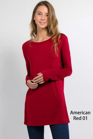 Long Sleeve Tunic by Piko - American Red