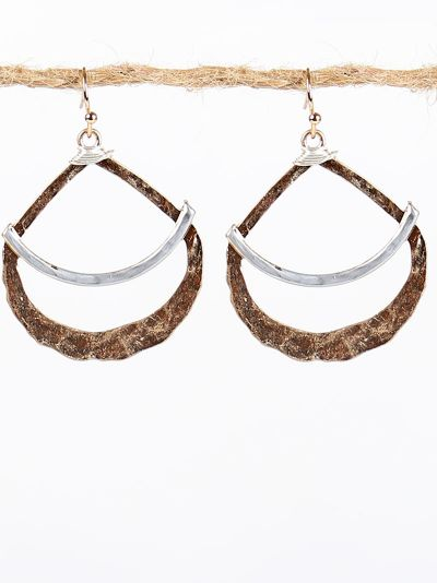TearDrop Hoop Drop Earrings