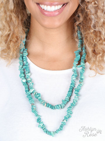 Rock Steady Turquoise Necklace