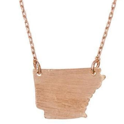 Dainty Arkansas State Necklace