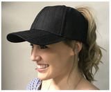 Denim CC Ponytail Hats