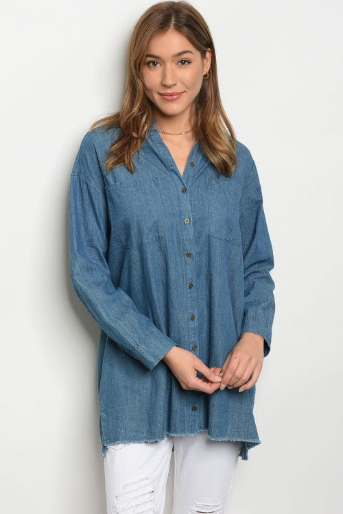 Chambray Denim Tunic