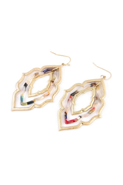 Moroccan Marble Earrings