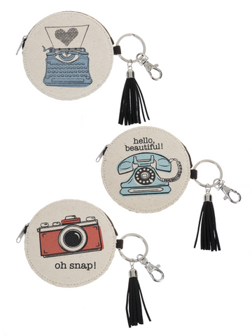 Totes Sweets!  Keychain & Tassel Coin Purses